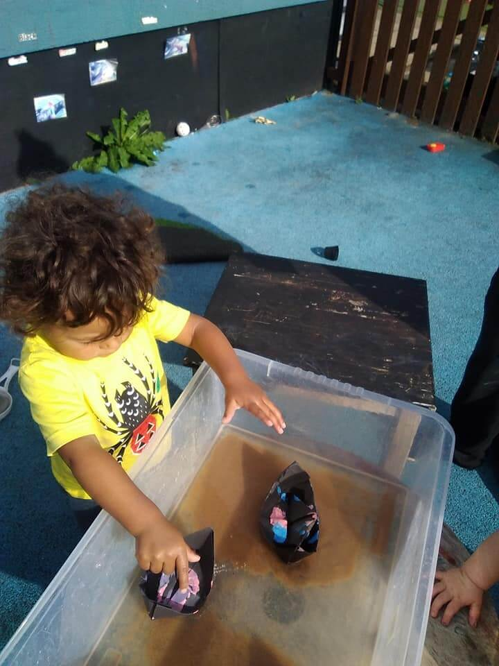 Floating, boats, homemade, creative, curiosity, exploring, experimenting, interested,